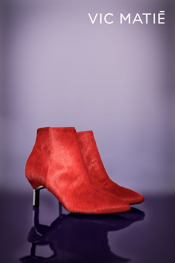 VIC MATIE'   These red ankle boots are amazing