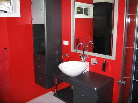 Bathroom Ideas Red And Black best 10+ red bathroom decor ideas on pinterest | grey bathroom
