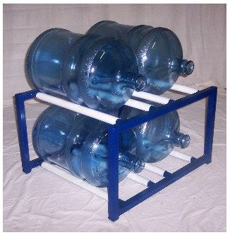 SHACO Welding & Fabricating build and sell 15 different sizes of 5 gallon water bottle storage racks and sell directly. SHACO Welding & Fabricating also build the larger water bottle racks.
