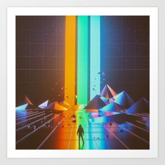RGB (08.07.15) print by Beeple. #art #designs #printoftheday #scifi #outofthisworld #space #mystical #planet #society6 #coolstuff #coolness