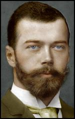 Tsar Nicholas II, eldest son Alexander III,  and Marie Feodorovna, born at May 1868. When he was twenty-three he narrowly escaped assassination in Japan.  Nicholas succeeded to the throne following his father's death from liver disease on 20th October, 1894.  Soon afterwards he married the German princess, Alexandra of Hesse-Darmstadt. Alexandra, the grand-daughter of Queen Victoria, was a strong believer in the autocratic power of Tsardom and urged him to resist demands for political…
