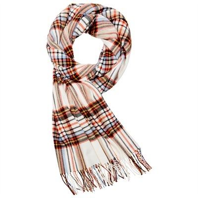 """Combat falling temperatures eight days of the week with our Super Soft Scarf. A fine knit finished with an elegant fringe, this season there is no reason to sacrifice style for comfort.100% acrylic. Hand wash cold. Lay flat to dry. 66"""" x 17"""". Available only at Indigo."""