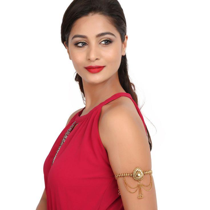 Antique BajuBand 57027W #Kushals #Jewellery #Fashion #Indian #Jewellery #Wedding #Accessories #BajuBand #Antique #Festive