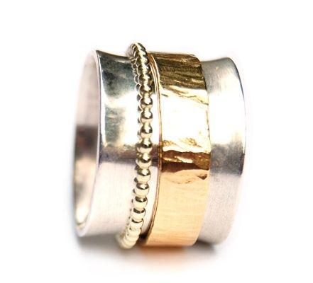 3-in-een ring met goud en zilver