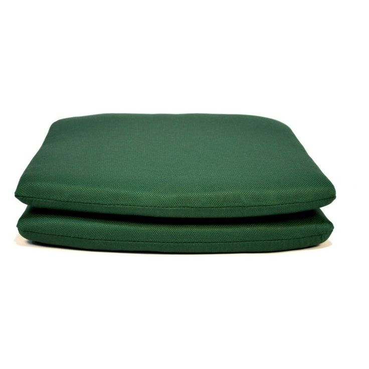 Casual Cushion Tapered Outdoor Seat Pad - Set of 2 Forest Green - DSSPTP-GREENX2