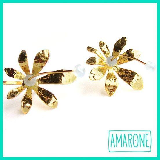 Delicados, llamativos y elegantes. Así son estos aretes #Jazmin que puedes conseguir en nuestros puntos de venta. #AmaroneJewels