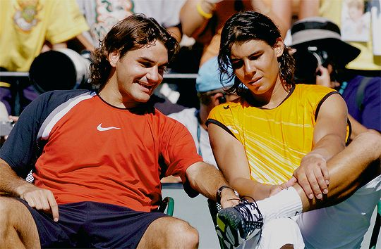 "rogersnadal: """"Roger Federer and Rafael Nadal at the 2005 Miami Open Final aka the last time these two played in a Final at Miami "" """