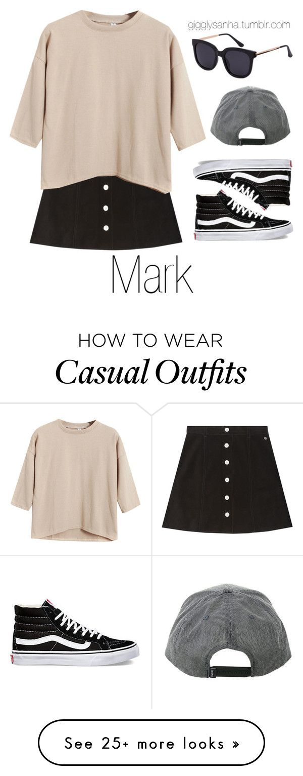 """Casual LA Date // Mark"" by suga-infires on Polyvore featuring AG Adriano Goldschmied, Vans and Chicnova Fashion"