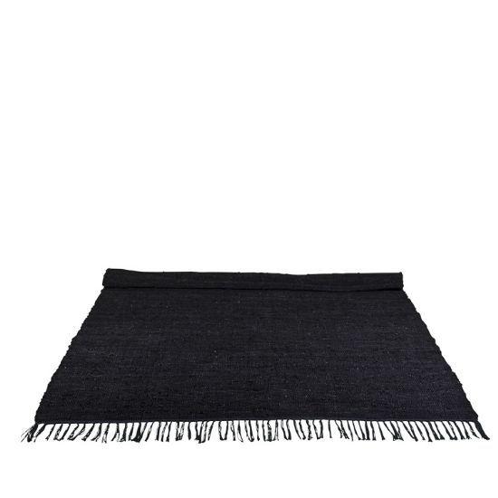 Dywan Odessa Black Skóra 200x300 - Skandynawski styl