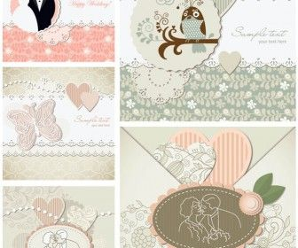 34 best wedding vector images on pinterest printables vector decorative wedding invitations vector stopboris Images