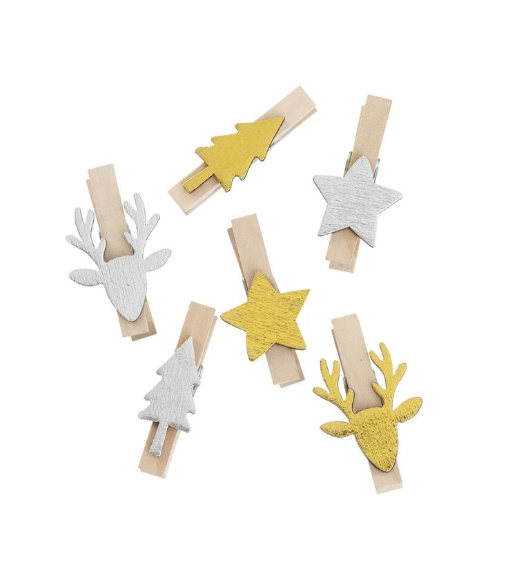 6-pack wooden pegs