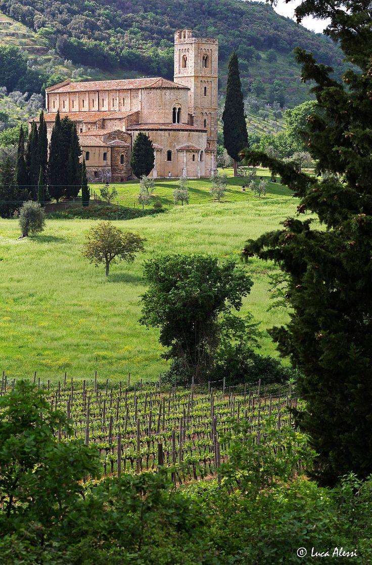 Sant'Antimo, Castelnuovo dell'Abate, Siena, Tuscany, Italy