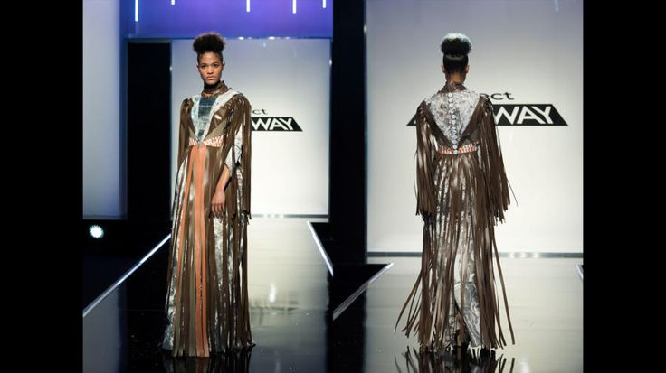 Ayana Ife's Winning Unconventional Challenge Project Runway Season 16, Episode 2 Final Look (Team Ballin' on a Budget)
