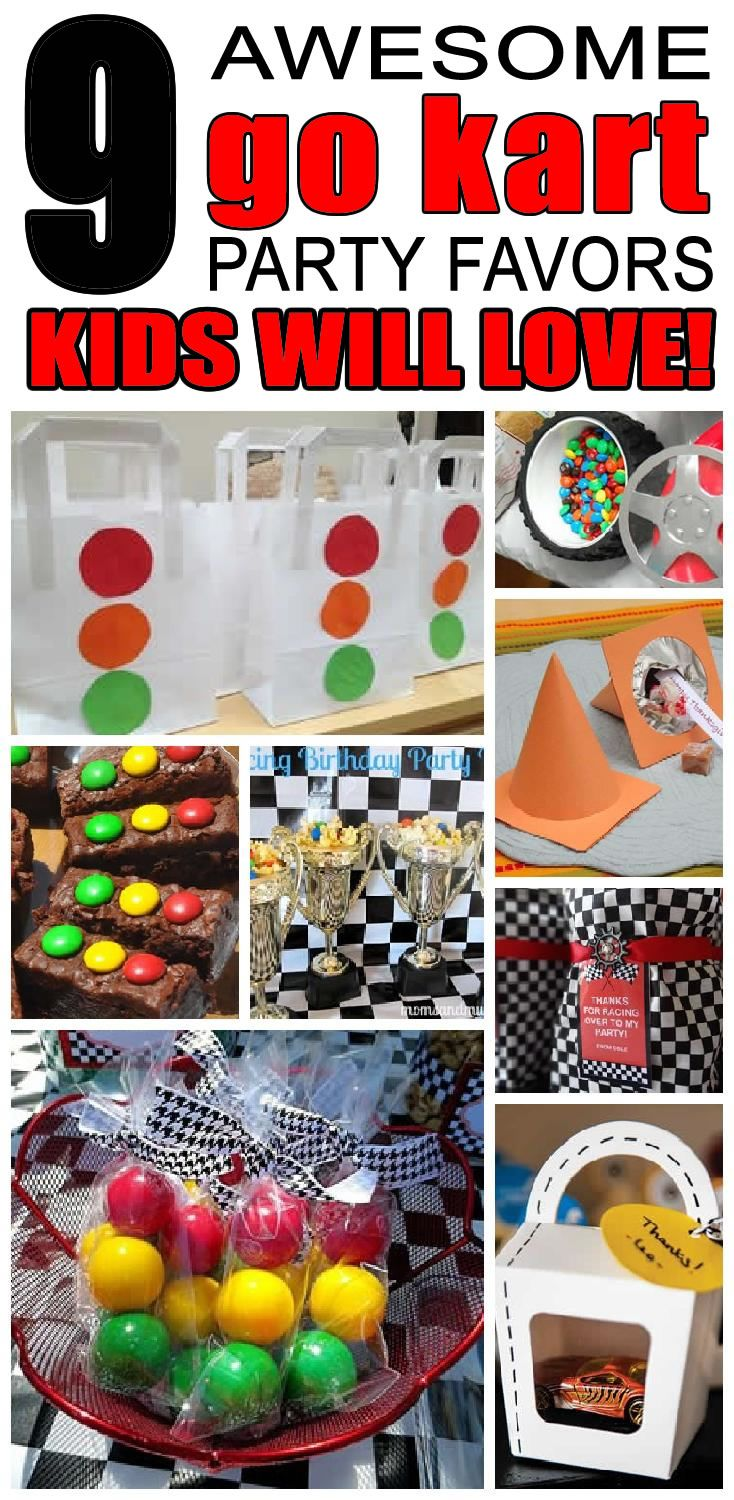 9 amazing go kart party favors for boys and girls. Kids will love these unique go-kart party favors.