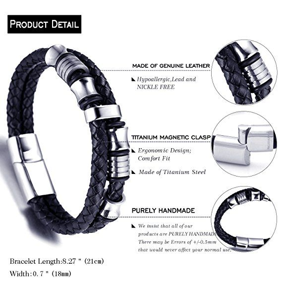 "Hier kaufen http://amzn.to/2pSlFA0 Halukakah ""SOLO"" Herren Echt-Leder Armband Schwarz mit Titan. #Kaufen #Armband #Titan #Leder #Halukakah"