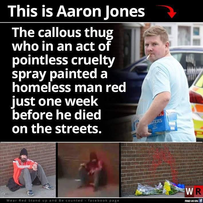Aaron Jones Homeless Man Acting Thug