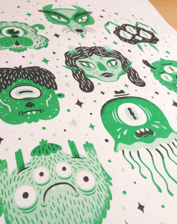 Monster Squad Print by kriski on Etsy
