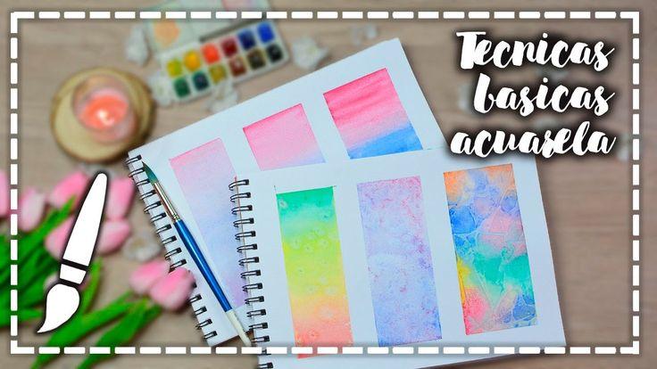 Acuarelas - Técnicas Básicas - A dibujar #03