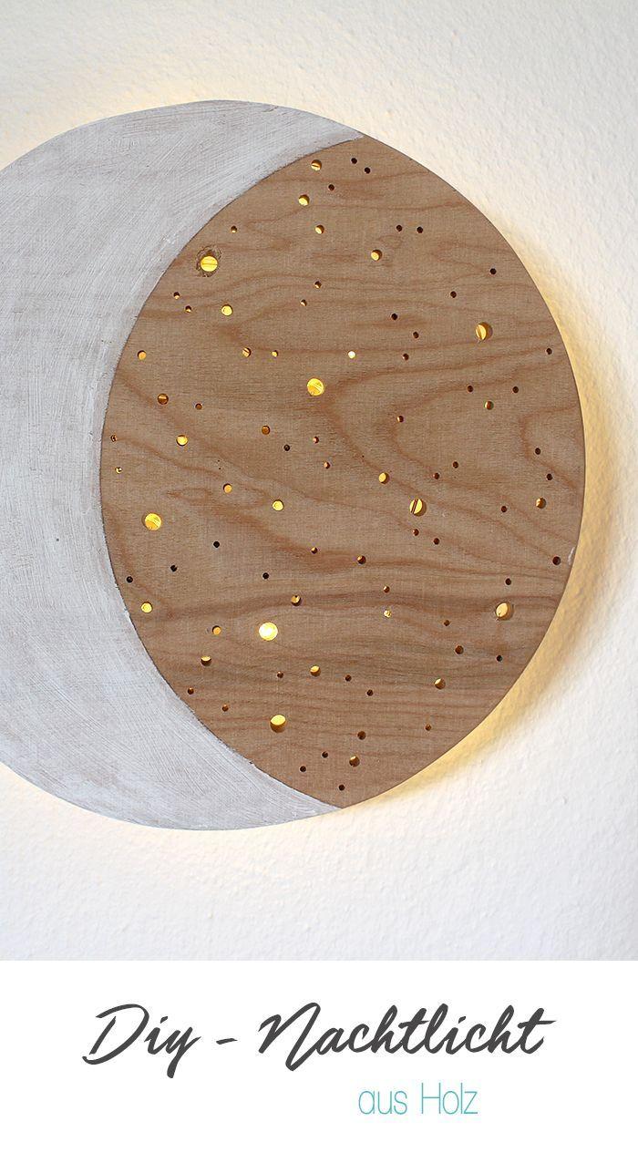 Epic DIY Nachtlich Gingered Things Holz Kinderzimmer Deko Lichterkette selber