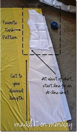 DIY Maxi Dress (original link) with or without rushing. Awesome!