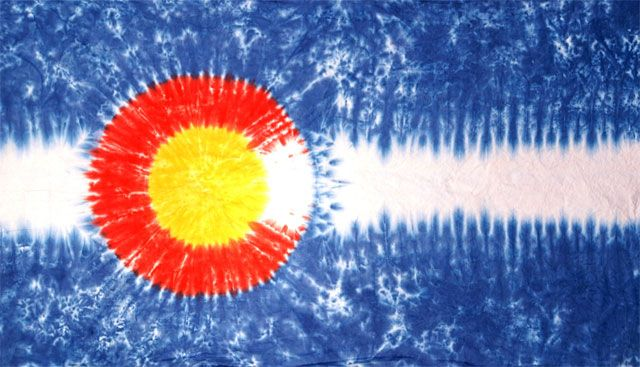 Tie Dyed Colorado Flag! So cool | Mountain Life ...  Tie Dyed Colora...