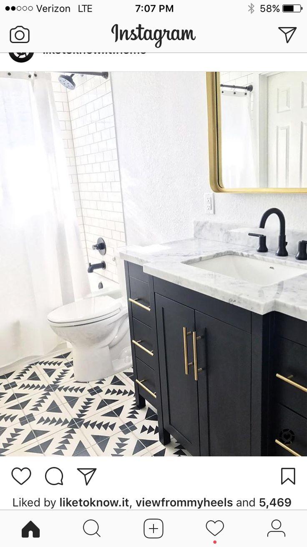 15 best Black Bathroom Vanities images on Pinterest   Bathroom ...