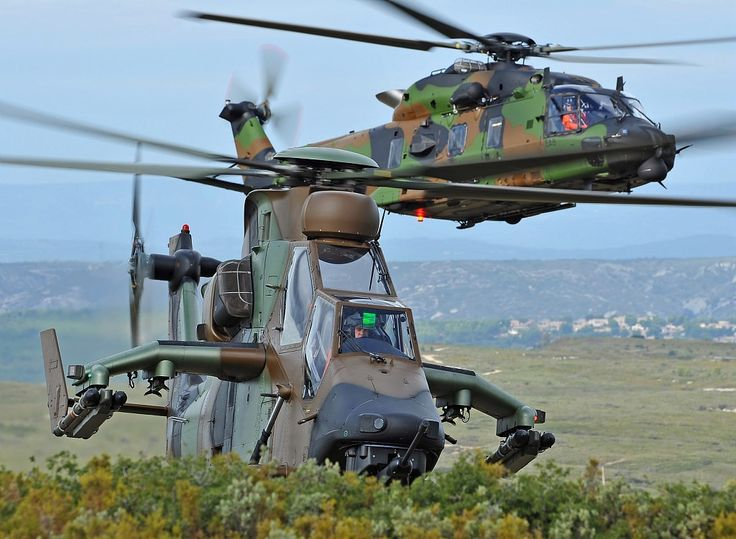 French Armée de Terre Tigre and NH-90 Caiman ALT - (c) Helicopters Airbus