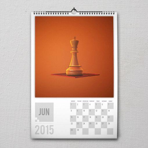 June 2015 #PremiumChessArtCalender #PremiumChess #chess #art #calender #kalender #LikeableDesign #illustration #3Dartwork #3Ddesign #chesspieces #chessart