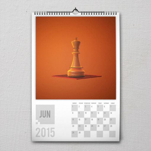 June 2015 #PremiumChessArtCalender #PremiumChess #chess #art #calender #kalender #LikeableDesign #illustration #3Dartwork #3Ddesign #chesspieces #chessart