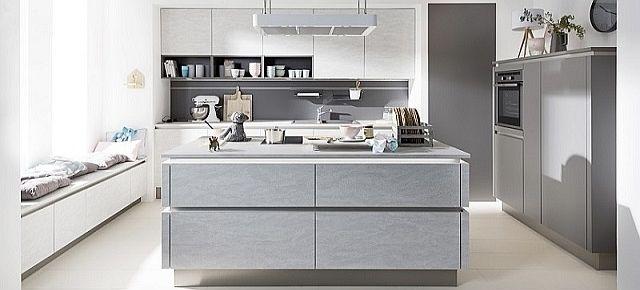 Naturalna odsłona kuchni - fronty o wyglądzie kamienia. Fronty z linii Stone (Gletscher), Nolte Küchen