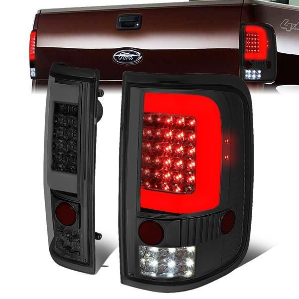 04 08 Ford F150 Lobo Led C Bar Rear Brake Tail Lights Smoked