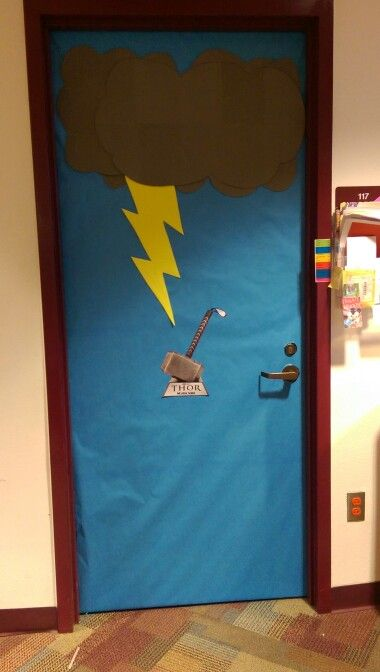 Thor Door Decoration | Pharr Memorial Library Super Hero ...