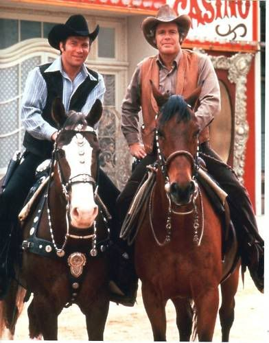 """ABC-TV  '70s Western, """"Barbary Coast,"""" with Doug McClure & William Shatner.  They also appeared together on an episode of The Virginian - The Claim S4Ep4"""