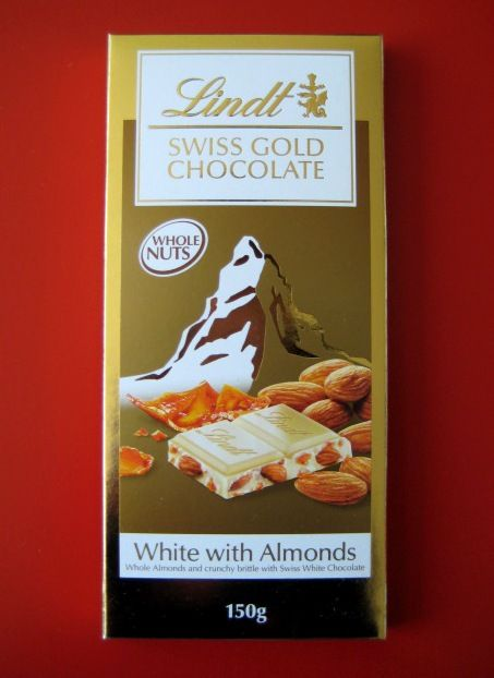 Lindt White Chocolate with Roasted Almonds and Almond Brittle