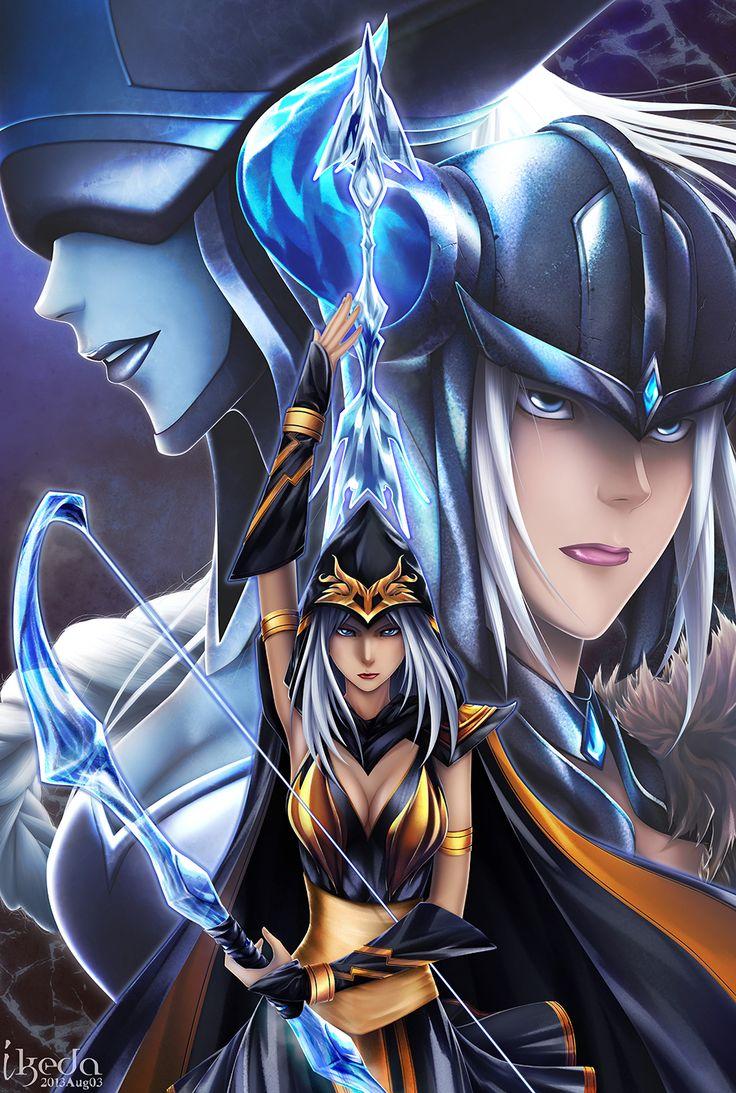Ashe, Sejauni, Lissandra   League of Legends Art @ http://xryz.net