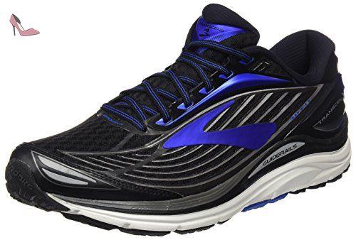 Brooks Transcend 4, Chaussures de Running Femme, Multicolore (Black/Divapink/Tealvictory), 36.5 EU