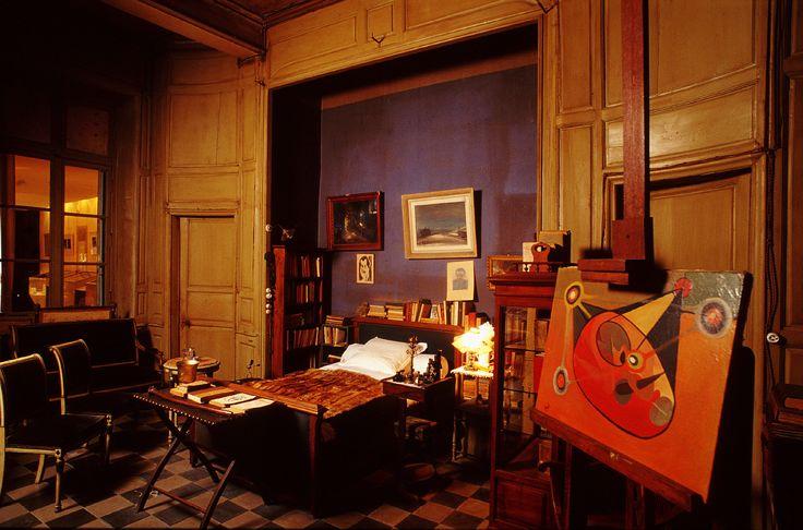 La chambre du poète et écrivain Joë Bousquet (1897-1950), située à la Maison des Mémoires, 53 rue de Verdun à Carcassonne. Photo: Conseil Departemental de l'Aude