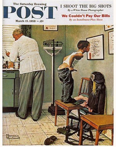 1958 - Checkup - by Norman Rockwell