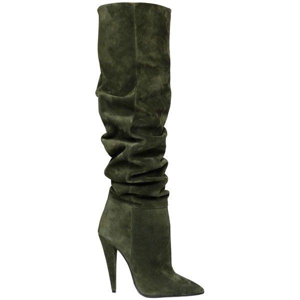 heels, Suede heels boots, Olive suede boots