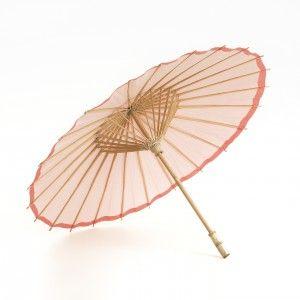 Koraal roze parasol te koop via www.instyledecoraties.nl