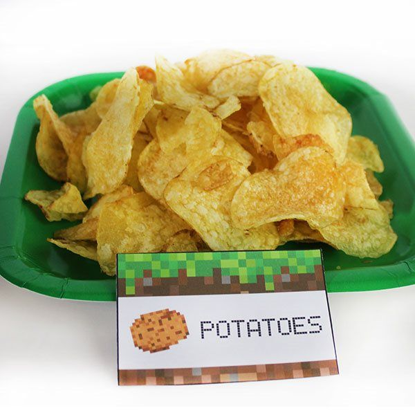 Potatoes - Crisps. Minecraft party food