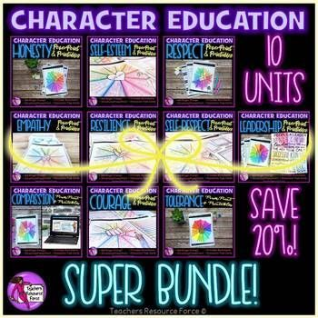 Help develop well-rounded students with this character education curriculum containing 10 different units! Ideal for middle and high school.