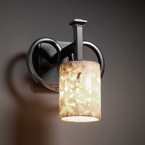 Heritage dark bronze wall sconce justice design group 1 light bathroom li