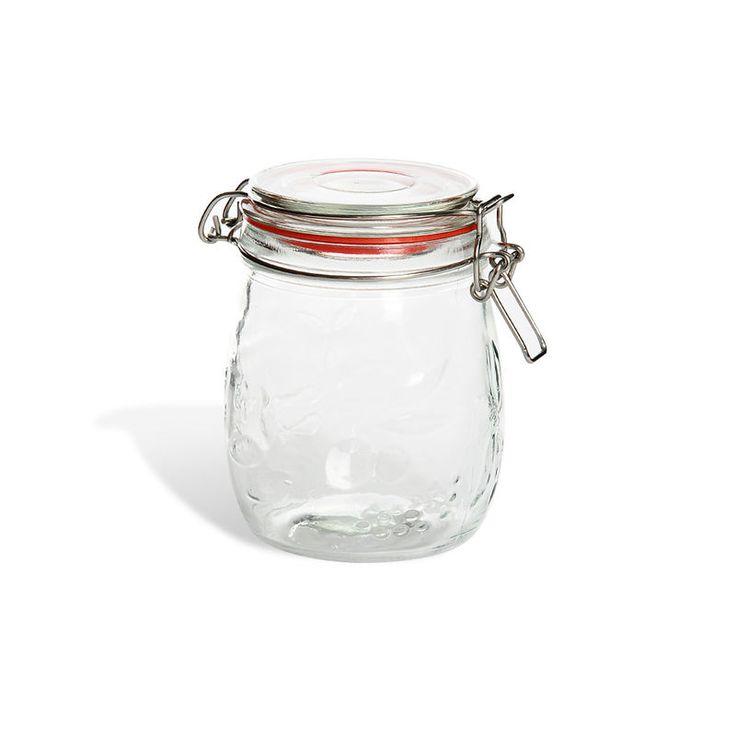 Glas m. Bügelverschluss ca. 500 ml, klar