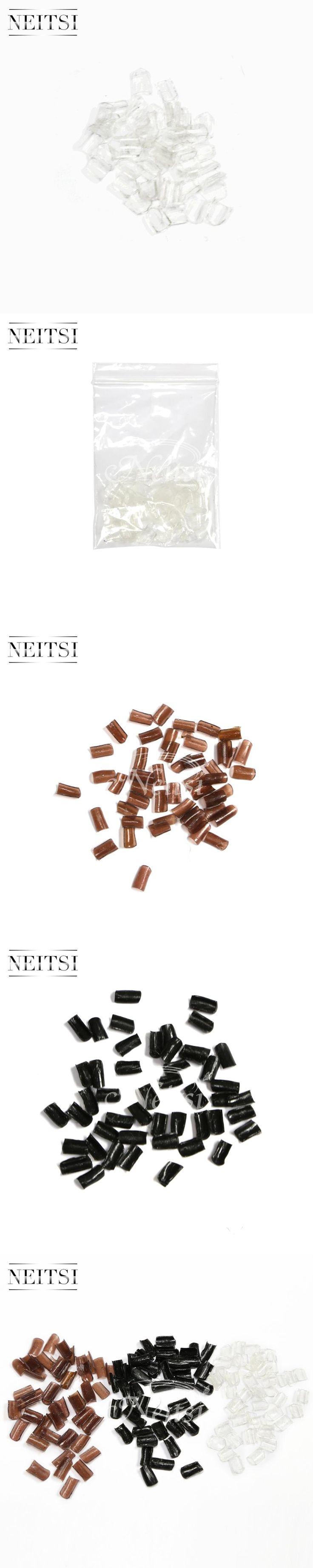 Neitsi Super Nail Keratin Glue Stick Nail Tip Keratin U-Shaped For Fusion Keratin Nail Tip Hair Extension 50pcs/pack 3 Colors