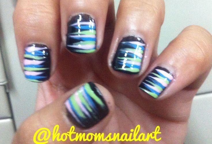 Nail art for short nails! IG @hotmomsnailarts
