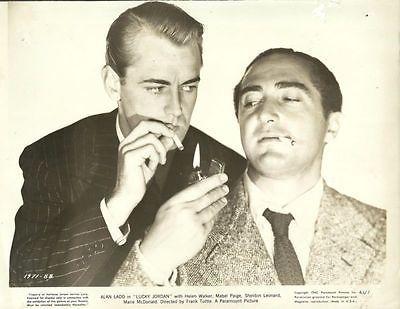"ALAN LADD & SHELDON LEONARD in ""Lucky Jordan"" Original Vintage Photo 1942"
