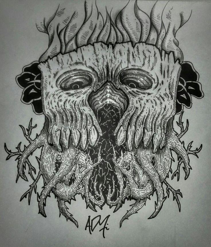 Skull // wooden skull // calavera //