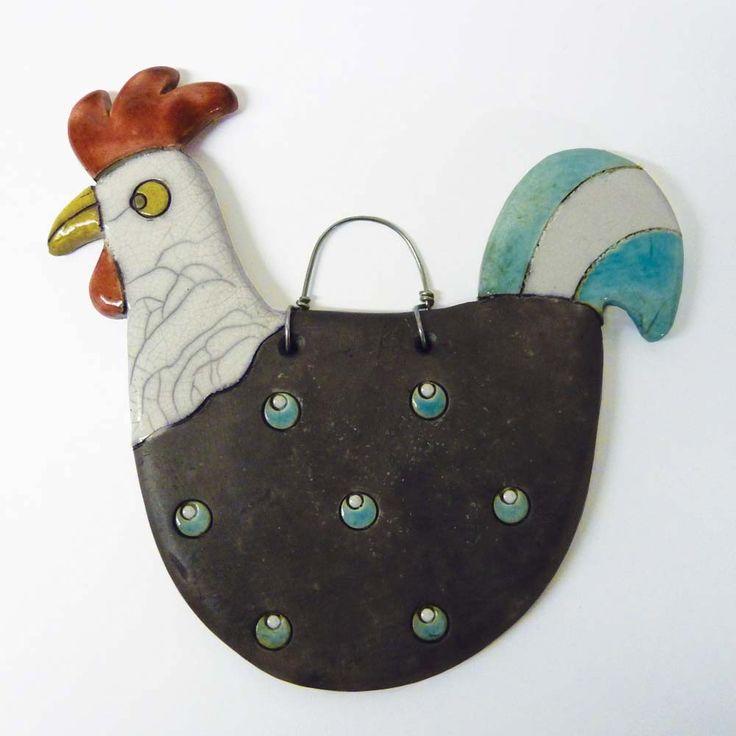 ...For Miche, Bygrav Ceramics, Otra Ave, Jane Bygrav, Animal Chicken, Nurs Für, Bygrav Raku, Raku Cockerel, Ceramics Inspiration