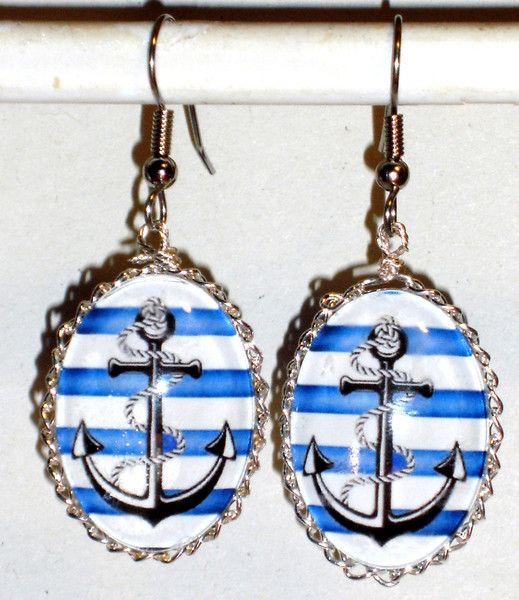 Ohrhänger - Ohrringe Anker Ohrhänger Ohrschmuck handgemacht - ein Designerstück von ausgefallene-Ohrringe bei DaWanda